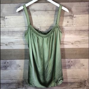 Sage Green Silk Tank Large